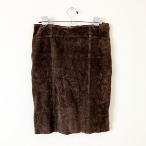 Marciano Skirts - Marciano Brown Suede Lace Up Skirt